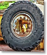 Michelin Weathered And Worn Metal Print