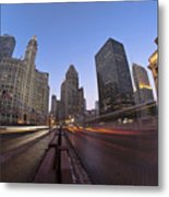 Michgan Avenue Action Metal Print