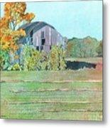 Michigan Autumn Barn Metal Print