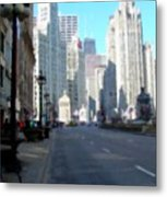 Michigan Ave Tall Metal Print