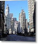 Michigan Ave Wide Metal Print
