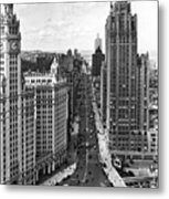 Michigan Avenue In Chicago Metal Print