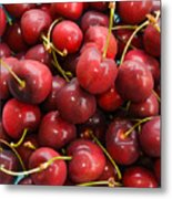 Michigan Cherries Metal Print
