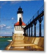 Michigan City Light 1 Metal Print