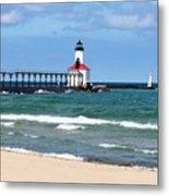 Michigan City Lighthouse Metal Print