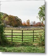 Michigan Farm And Fence  Metal Print