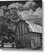 Michigan Old Wooden Barn Metal Print