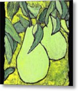 Michigan Pears Metal Print