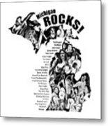 Michigan Rocks Metal Print