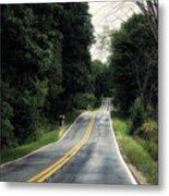 Michigan Rural Roadway In September Metal Print