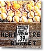 Michigan Squash For Sale Metal Print
