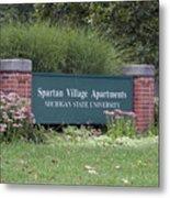 Michigan State University Spartan Village Signage Metal Print