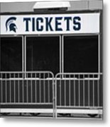 Michigan State University Tickets Booth Sc Signage Metal Print