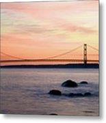 Michigan's Mackinac Bridge Metal Print