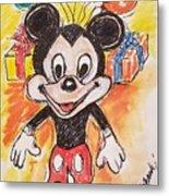 Mickey Mouse 90th Birthday Celebration Metal Print