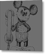 Mickey Mouse Novelty Phone Patent 1978 Metal Print
