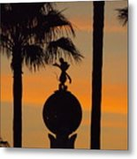 Mickey Mouse Sihouette Metal Print