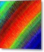 Micro Linear Rainbow Metal Print
