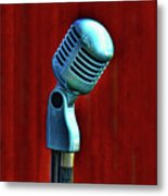 Microphone Metal Print