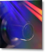 Microscope Lens And Light Beams Metal Print