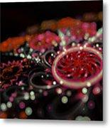 Microscopic V - Glitter Metal Print