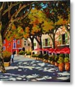 Mid-day Shade In The Village Metal Print