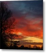 Mid-january Sunset Metal Print