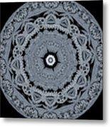 Mid Night Kaleidoscope Metal Print