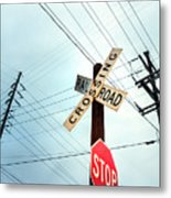 Mid West Crossroad, Usa Metal Print