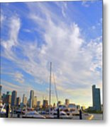 Midday In Miami Metal Print