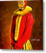 Middle Ages Iron Man Metal Print