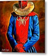 Middle Ages Spider Man Metal Print