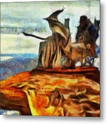 Middle Earth Airliner 2 - Da Metal Print