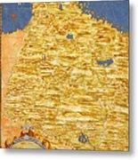Middle East Georgia, Armenia, Azerbaijan, Iraq, Western Iran Metal Print