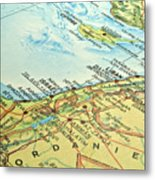 Middle East Map. Metal Print