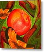 Middle Of The Garden Metal Print