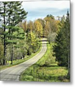 Middle Road In Autumn Metal Print