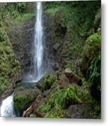 Middleham Waterfall In Dominica Metal Print