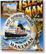 Midland Railway, Steam Boat, Isle Of Man, Poster Metal Print