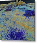 Midnight At The Burning Coal Vein Metal Print