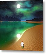 Midnight Beach Walk - Sea Of Cortezz Metal Print