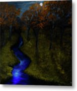 Midnight Forest Metal Print