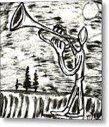 Midnight Horn Metal Print
