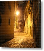 Midnight In Porto Metal Print