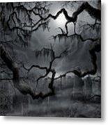Midnight in the Graveyard II Metal Print