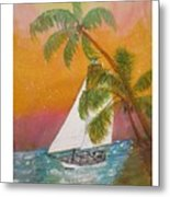Midnight In The Gulf Of Mexico Metal Print