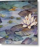 Midnight Lily Metal Print
