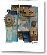 Midnight Mechanism Metal Print