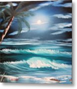 Midnight Ocean Metal Print