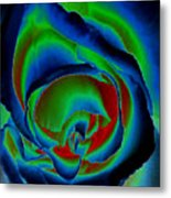 Midnight Rose Metal Print
